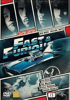 Fast and Furious comic book cover Blu-Ray/DVD case