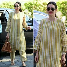 @therealkarismakapoor Outfit - @anavila_m Handbag - @hermes Sandals - @aprajitatoorofficial Styled by - @eshaamiin1 #bollywood #style…