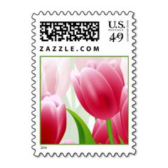 Spring Tulips. Easter Postage Stamp. Wanna make each letter a special delivery? Try to customize this great stamp template and put a personal touch on the envelope. Just click the image to get started!