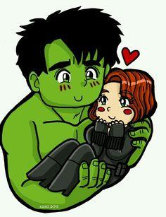 Hulk and Black wido