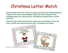 Capital and Lowercase Christmas theme matching