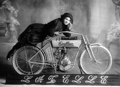 Vintage biker chick…