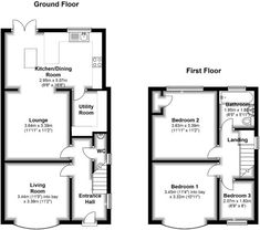 Floorplan - House Plans, Home Plan Designs, Floor Plans and Blueprints 1930s House Extension, House Extension Plans, House Extension Design, Extension Ideas, House Design, Wraparound Extension, Rear Extension, Cottage Floor Plans, House Floor Plans