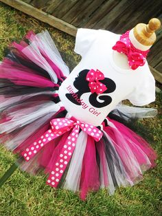 Hot Pink Barbie Birthday Tutu Outfit  1st by TutuBellaCoutureLtd. , via Etsy.