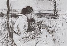 Children of the artist. Olga and Anton Serov - Valentin Serov