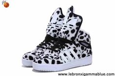 Low Price Adidas X Jeremy Scott Winter Big Tongue Shoes Leopard White Fashion Shoes Shop