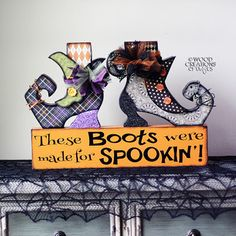Halloween Witch Boots w/vinyl