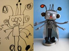 Child's drawings made real