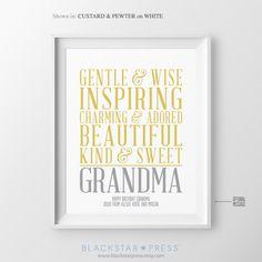 Christmas Gift for Grandma Birthday Gift from Kids Grandma