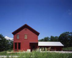 Joray Road House-non contrasting trim looks more modern, less barn like