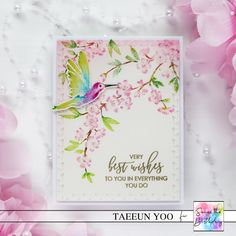 Seize the Birthday #212 – Spring Flowers – rainbow in november Penny Black, Party Guests, Spring Flowers, Watercolor Paper, How To Look Pretty, I Card, Cherry Blossom, Greeting Cards, Rainbow