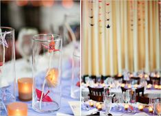 Origami Cranes for centerpieces