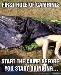 Lmfao our campsite neighbors at last year's #wayhome learned this one the hard way  #Camping