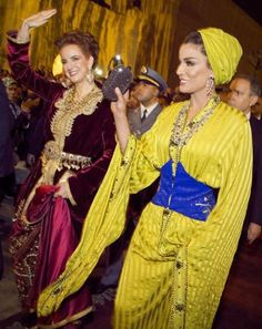 Princess Lalla Salma and Sheikha Mozah at the Fez Festival