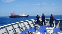 The Chinese vessels were anchored in Sabina Shoal.