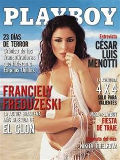 Playboy (Mexico) April 2003  with Franciely Freduzeski on the cover of the magazine