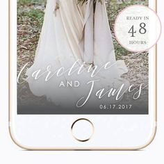 This is a listing is for A CUSTOM SNAPCHAT GEOFILTER for use at your wedding or event. Geofilters are a fun way to help your wedding or event guests capture where they are in their snaps! Your custom geofilter will be available within 48 hours after purchase. Purchase of this listing does not include the cost of geofilter set up or activation with Snapchat. Geofilter set up and activation should be purchased here: https://www.snapchat.com/geofilters PLEASE REVIEW THIS LISTING ...