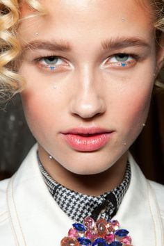 Blushed Cheek Girly Pink  Makeup Trend for Spring Summer 2013.  Meadham Kirchhoff Spring Summer 2013.   #makeup   #trends