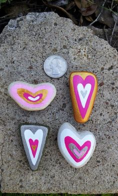 """""""Be still my HEART!"""" Hand-Painted Valentine Beach Stone Heart Rock Magnet Gift…"""