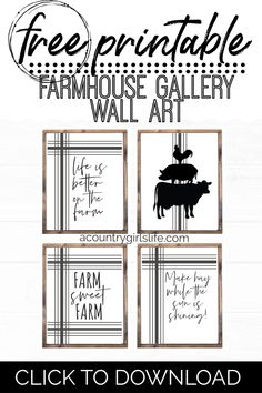 Looking for FREE Farmhouse printables? Need to decorate your space with some Fixer Upper farmhouse style? We think you'll love our country quotes wall art! Printable Quotes, Printable Wall Art, Farmhouse Wall Art, Farmhouse Style, Farmhouse Signs, White Farmhouse, Fixer Upper, Joanna Gaines Decor, Bathroom Gallery