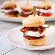 BLT Caprese Sliders With Puff Pastry Buns