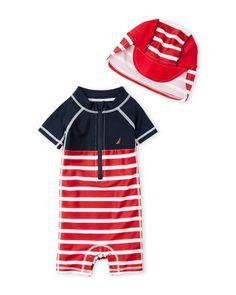 Nautica (Infant Boys) Two-Piece Rash Guard Set