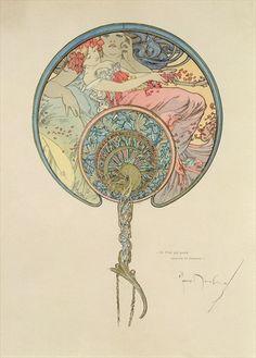 alphonse mucha Le Vent Qui Passe Emporte la Jeunesse, 1899.