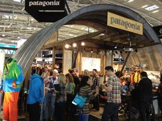 Another view on the Patagonia booth at the ISPO fair.