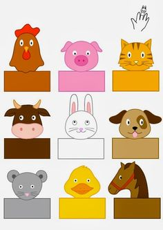 farm-animals-finger-puppets « Preschool and Homeschool Farm Animals Preschool, Farm Animal Crafts, Preschool Activities, Finger Puppet Patterns, Finger Puppets, Paper Puppets, Puppet Crafts, Farm Theme, Art N Craft