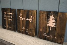 reclaimed wood woodland scenes