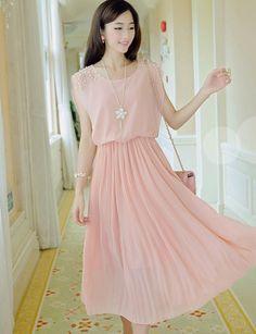 31b8388cbc4e1 Cheap Women Dress Solid Chiffon Loose Sleeveless Clothes Ankle-length  Beading Dress Elegant Pleated Slim Dresses For Female