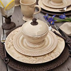 Grazia Dinnerware Collection by The GG Collection - mediterranean - dinnerware - atlanta - Iron Accents