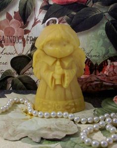 Beeswax Little Angel Candle