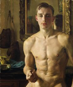 Male study, unknown artist
