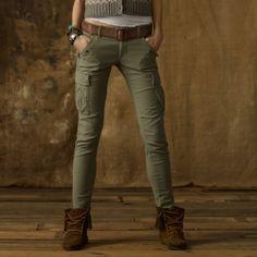skinny cargo pants for women   Denim & Supply Ralph Lauren Skinny Freedom Cargo Pant in Khaki (Green)
