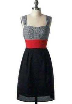 Vestidos pin-up: fotos modelos - Vestido pin-up cinturon rojo                                                                                                                                                                                 Mais