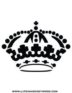 LA KINGS OLD CROWN STENCIL