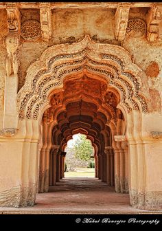 Lotus Mahal, Hampi, Karnataka, India - Explore the World, one Country at a Time. http://TravelNerdNici.com
