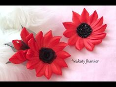 DIY: How to make a Kanzashi ribbon flower hair clip. - YouTube
