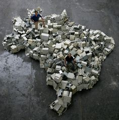 Brazil by Vik Muniz