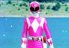 Kimberly is combat ready with the pink ranger power of the Pterodactyl Power Rangers Reboot, Power Rangers Season 1, Saban's Power Rangers, Mighty Morphin Power Rangers, Kimberly Power Rangers, Pink Ranger Kimberly, Smosh Members, Trini Kwan, Jason Lee Scott