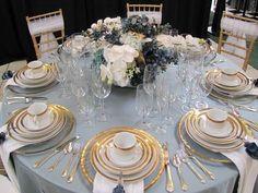 Delicate Dusty Blue And Gold Wedding Ideas   HappyWedd.com