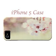 iPhone 5 Case - Cherry Blossom iPhone Case,Pink iPhone Case, Cute iPhone Case, iPhone 5 hard Case. $40.00, via Etsy.