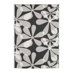 #floral #retro #fabric #flowers #floral #gray #white #black