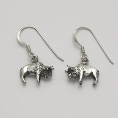 Bison Hook Earrings at theBIGzoo.com, a family-owned toy store.