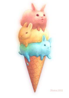 Request:Quick eat the icecream by nunungo.deviantart.com on @deviantART