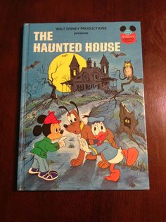 The Haunted House - Disney vintage children's book - Mickey Mouse and Donald Duck on Etsy, $7.00