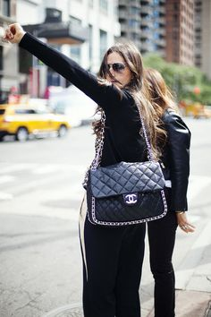 oversized chanel bag chic