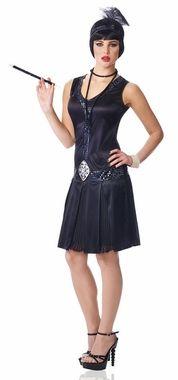 Women's 20's Debutante Black Flapper Costume