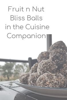 Fruit and Nut Chocolate Bliss Balls in the Cuisine Companion - Good Food Made Simple Healthy Meals To Cook, Easy Healthy Recipes, Healthy Cooking, Easy Meals, Bliss Balls, Balls Recipe, Shredded Coconut, Health And Wellbeing, Make It Simple